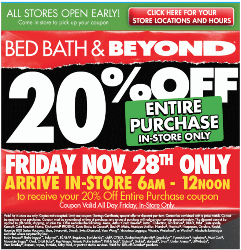 Thanksgiving Hours For Bed Bath And Beyond