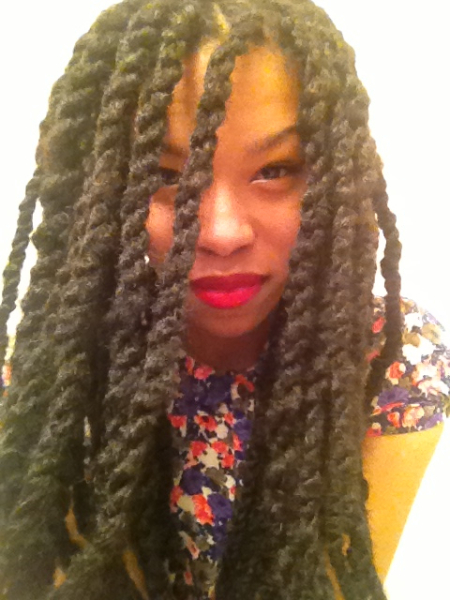 6 braid and twist extension styles