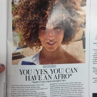 It Has Begun... Allure Magazine Provides Step-by-Step Instructions for White Girls to Achieve an Afro
