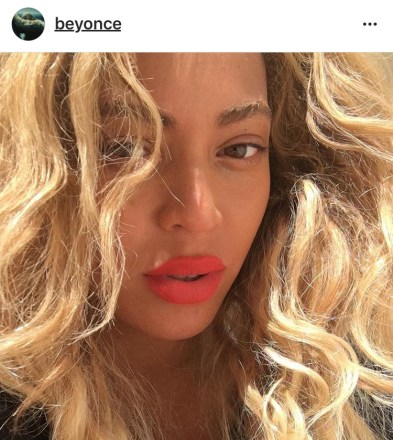 Beyonce's former hair color was closer bleach blonde.