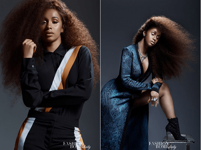 [Pics] Cardi B is Absolutely Stunning in an Exclusive Shoot for Fashion Bomb Daily