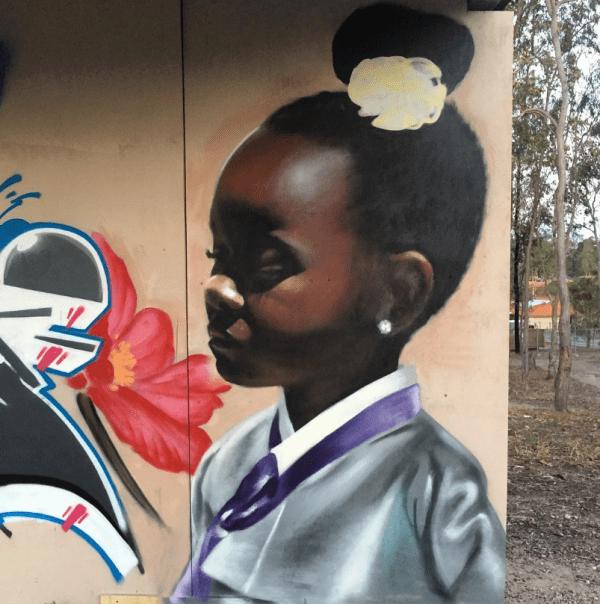 Korean Artist Paints Black Girls Hanbok