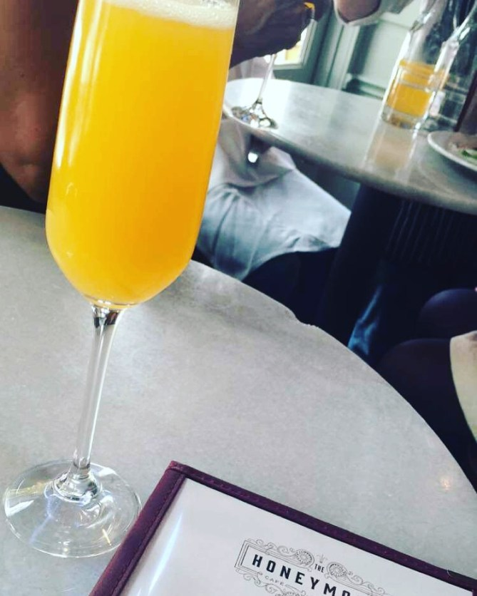 Passion fruit mimosa