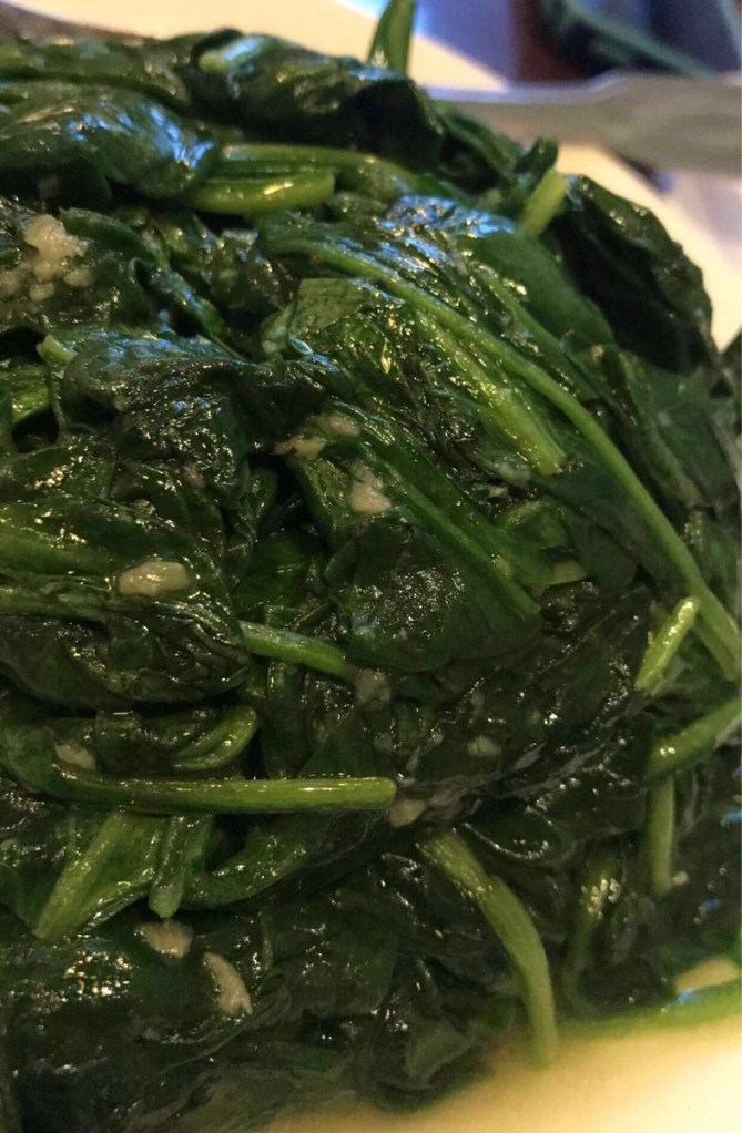 The sautéed spinach!