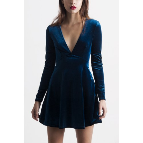 Medium Crop Of Blue Velvet Dress