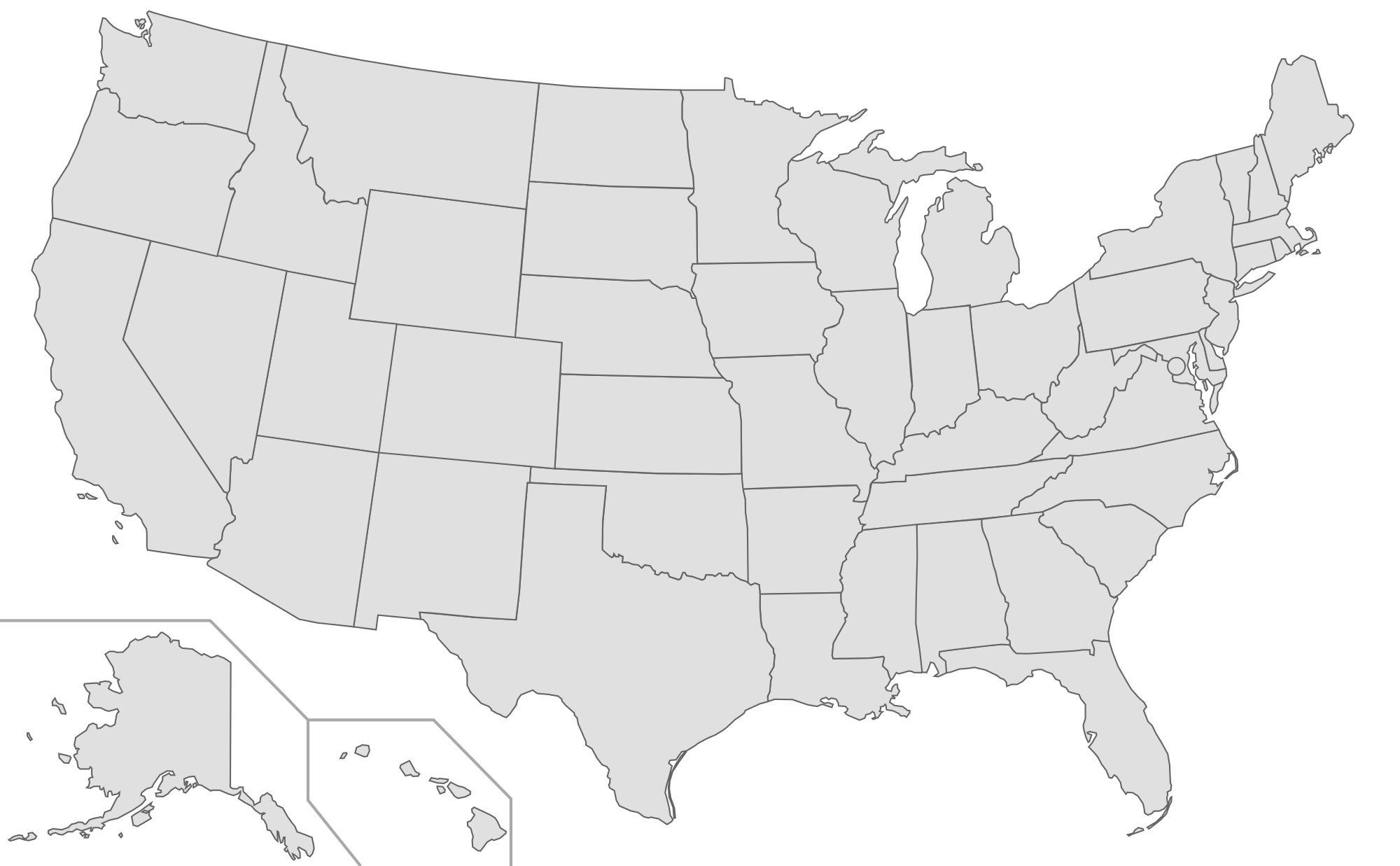 White Us Map - Usa map empty