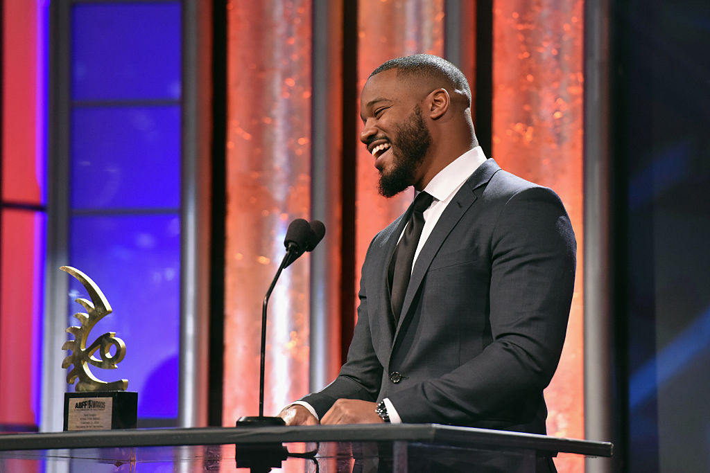 BEVERLY HILLS, CA - FEBRUARY 21:  Director Ryan Coogler accepts the ABFF Rising Star award onstage during the 2016 ABFF Awards: A Celebration Of Hollywood at The Beverly Hilton Hotel on February 21, 2016 in Beverly Hills, California.