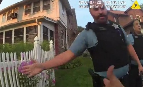 An image from a Chicago police officer body camera after Paul O'Neal was shot.