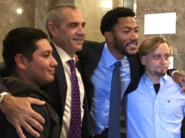 Jurors Pose For Photos With Derrick Rose Following Conclusion of Rape Trial