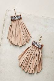 Caged Leather Tassel