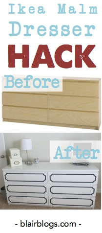 Ikea Malm Dresser Hack | Blair Blogs