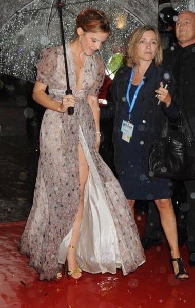 Emma Watson suffers a wardrobe malfunction as her backless dress 61