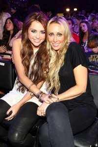 Miley and Tish Cyrus attend Nickelodeon's 23rd Annual Kids' Choice Awards held at UCLA's Pauley Pavilion on March 27