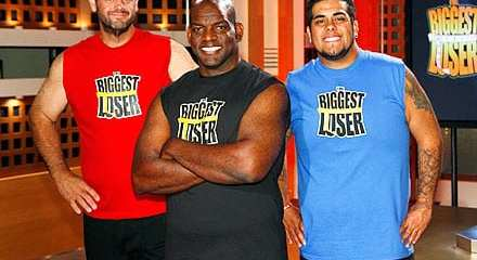 "The three ""Biggest Loser"" finalists: John, Antoine and Ramon (left to right)."