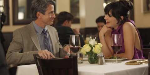 Jess (Zooey Deschanel) continues to date the Fancyman, Russell (Dermot Mulroney).