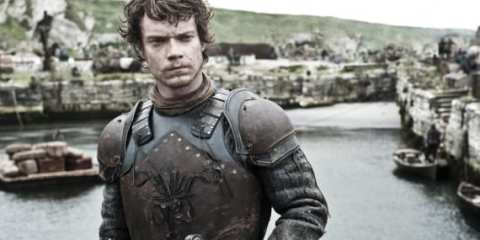 Theon Greyjoy (Alfie Allen) prepares for battle as all of Westeros feels the effects of a sudden murder.