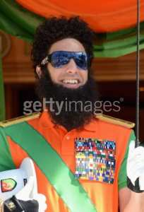 The Dictator arrives at the Carlton Hotel during the 65th Annual Cannes Film Festival on May 16 in Cannes, France. (Photo by Andrew H. Walker/Getty Images)