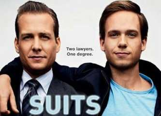 "Gabriel Macht and Patrick J. Adams star in ""Suits"""