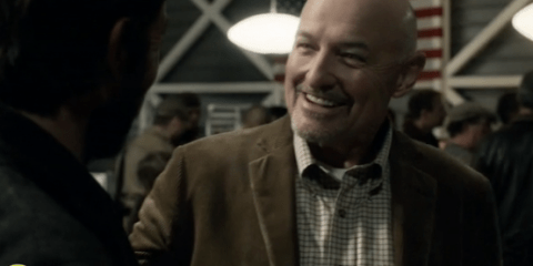 Terry O'Quinn guest stars as Arthur Manchester, the Majority Leader of Charleston, SC.