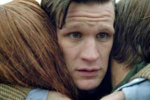 The Doctor (Matt Smith) and his Ponds (Arthur Darvill and Karen Gillan)