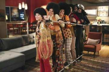 The gang gets ready for Halloween as the Jackson 5.
