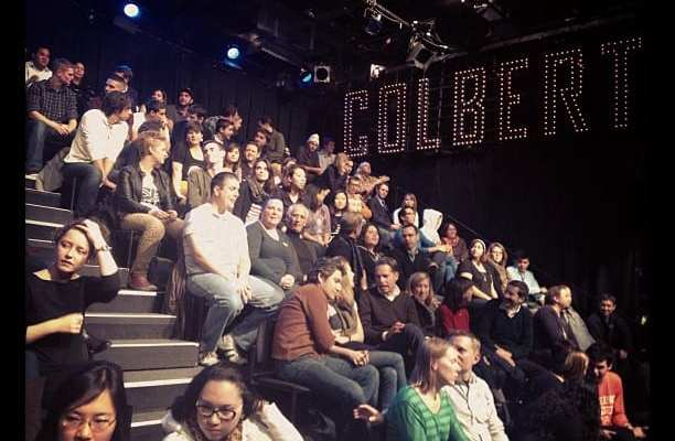 Colbert election night crowd, featuring yours truly. (Credit twitter.com/comedycentral)
