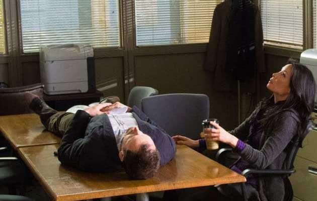 Sherlock (Jonny Lee Miller) and Joan (Lucy Liu) reflect on the case.