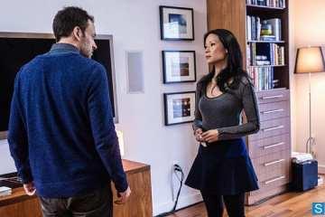 Sherlock (Jonny Lee Miller) and Joan (Lucy Liu) discuss her becoming his partner.