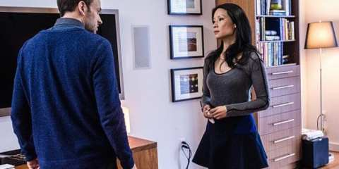 Sherlock (Jonny Lee Miller) and Joan (Lucy Liu) discuss her becoming his partner.