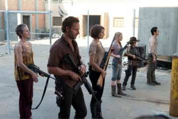 Rick and the others stand ready to defend the prison