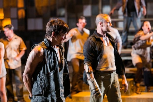 "Daryl (Norman Reedus) and Merle (Michael Rooker) reunite in ""The Suicide King"""