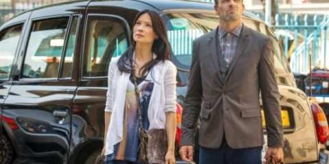 Watson (Lucy Liu) and Sherlock (Jonny Lee Miller) arrive at Sherlock's old home 221B.
