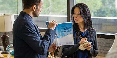 Elementary: Sherlock (Jonny Lee Miller) and Joan (Lucy Liu) search for the mathematician killer.