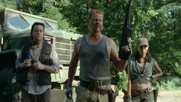 "We learn more about Abraham (Michael Cudlitz), Eugene (Josh McDermitt), and Rosita (Christian Serratos) in ""Claimed"""