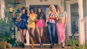 G.R.L. bears resemblance to the Spice Girls in this shot from their Vacation music video.