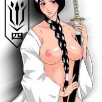 A bound Tatsuki in school uniform rages while Ichigo pulls down her panties and licks her ass...