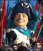 Italy's left confronts Berlusconi