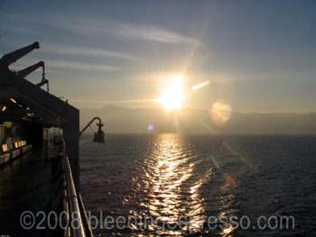 Sunset from the ferry, Strait of Messina on Flickr