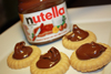 Shortbread cookies with Nutella