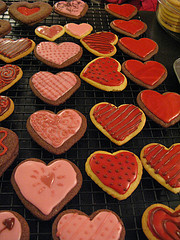 Valentine's Day cookies by Kitchen Wench on Flickr