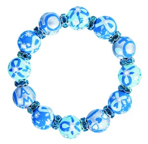 Angela Moore OCNA Classic Bracelet with Teal Crystals