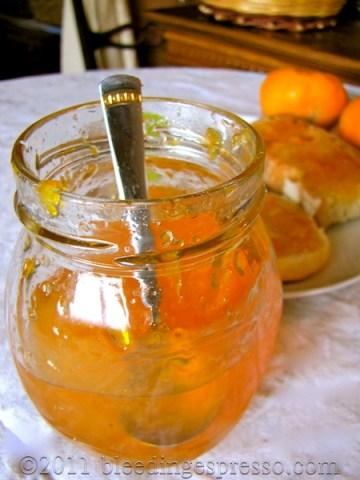Mandarin jam from our mandarins