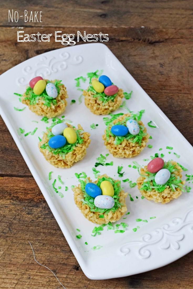 No-Bake Easter Egg Nests -