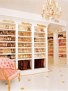 Mariah Carey's shoe closet, part 1