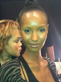 Tracy Reese fall fashion week 2012 mally beauty makeup Model Fatima