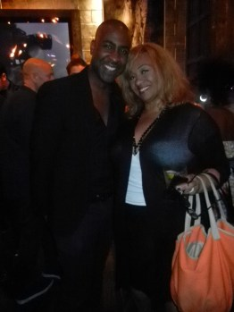 Valente Frazier and Tracey Brown at at Destination Iman Launch party September 7, 2012 at the Electric Room in the Dream Hotel NYC