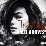 trending bold brows