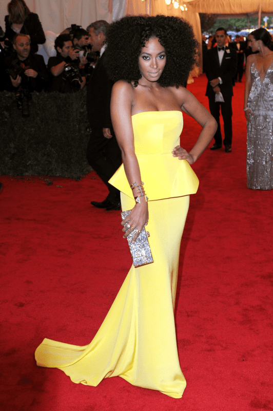 Solange Knowles in Rachel Roy Met Gala 2012