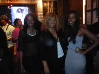 Mataano sisters and Tracey at Destination Iman Launch party
