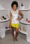 Solange at Stuart Weitzman shopping event